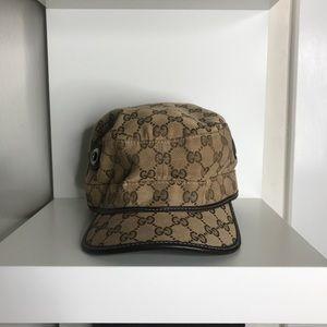 b6619072e7084 Gucci Accessories - Authentic GUCCI beige GG canvas MILITARY hat - L